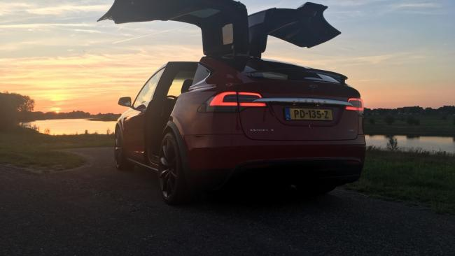 Tesla Model X - wing doors